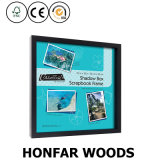 30X30cm Black Solid Wood Scrapbook Frame Shadow Box Picture Frame