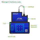 Container Lock Tracker with Keyboard Password Unlock and SMS Software Unlock Function