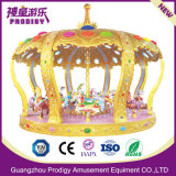 Attractive Deluxe Mechanical Royal Crown Carousel Amusement Equipment