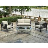 Latest Design Outdoor Garden Python Corner Sofa Set Waterproof Sunproof Aluminum Lounge Furniture with Tempered Glass Table