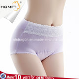 Ladies Cotton Plus Size Sanitary Underwear Physiological Abdomen Control Briefs Anti-Leakage Menstruation Panties