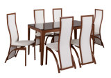 Luxurious White Glass Dining Set Dining Room Furniture