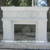 White Marble Statue Carving Fireplace for Decoration