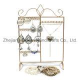 Countertop Rotating Wrought Iron Jewelry Display Shelf (wy-4436)