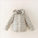 Fashion Printed DOT Girl Coat for Children Clothing