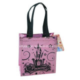 Princess Castle Foil Design Mini Non-Woven Handbag Tote Bag