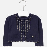Girls Texture Scallop Edge Cardigan