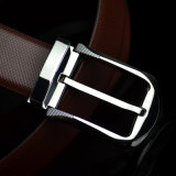New Design Men Leather Pin Buckle Embossed Leather Belt