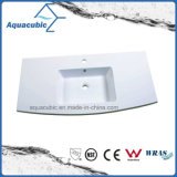White Color Au Artificial Stone Polymarble Basin