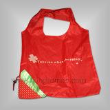 Stawberry Shape Promotional Gift Folding up Polyester Shopping Bag