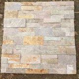 Black Slate Stacked Stone Wall Panels (SMC-SCP483)