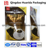 Colorful Printing Bottom Gusset Coffee Plastic Packaging Bag with Zipper