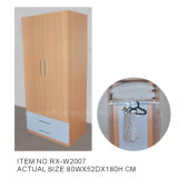 Melamine Wooden Wardrobe with Cabinet (RX-W2007)