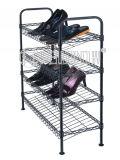 Adjustable DIY Slanted Shoe Rack Powder Coating in Black (CJ-C1112E)