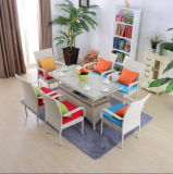 Dining Table and Chair Tables and Bar Stools Leisure Rattan Wicker Table Garden Furniture Sets Z562