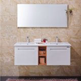 Oppein Modern Plywood Bathroom Vanities with Double Basin (OP13-010-130)