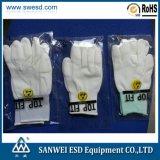 ESD White PU Top Fit Glove 3W-9518-7