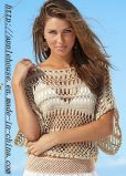 Ladie's Crochet Beachwear Pullover Sweater by Handmade