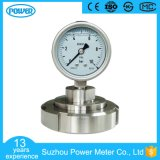 4′′ 100mm Stainless Steel Sanitary Diaphragm Pressure Gauge with Flange