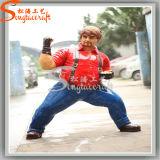 Ome Amusement Park Decoration Life Size Kungfu Statues