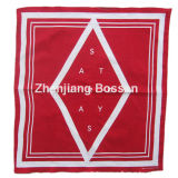 Custom Made Logo Printed Red Cotton Promotional Bandanna