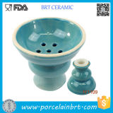 Nice-Looking Cheap Baby Blue Ceramic Hookah Bowl