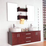 High End Double Sink Long Countertop MDF Bathroom Cabinets
