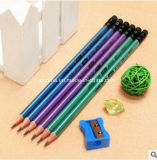 2017 Hot Sell Hb Pencil with Metal Color