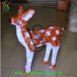 christmas Light Motif Deer Sculpture Light for Outdoor Decoration