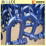 Adjustable Bow Shackles Colored Steel Shackles, Forging 1035 Steel