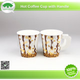 2015 Popular Cafe Hot Coffee Paper Cups for 7oz with Handle