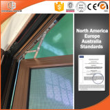 Good Quality Window, Thermal Break Aluminum Tilt & Turn Window 3D Red Oak Wood Grain Finishing Wood Color