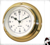 Quartz Clock Arabic Numberals Dial Brass Case 81mm