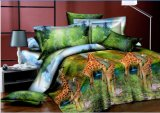 100% Polyester 3D Flower Fabric for Bedding Set