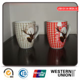 Christmas Promotion Ceramic Mug with Reindeer Decal