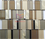 Gold Color Crystal Aluminium Mixed Mosaic Tiles (CFA80)