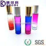 10ml Blue-Pink Color Roller Bottle with Stainless Steel Ball&Gold Cap