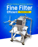 Food Type SUS. Frame Plate Filter, Hygienic Inox Pharmaceutical Filter, Laboratory Small Filter Pressing
