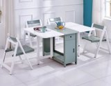 Creative Modern Wood Dining Table and Chairs Set Folding Table Chairs