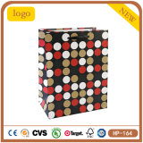 Red and Black Round Cosmetics Gem Clothing Coated Paper Shopping Bag