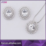 Round Shape Jewelry Set with Micro Pave Setting
