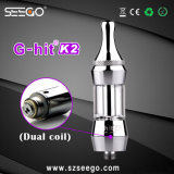 Seego G-Hit K2 Series Vaporizer EGO Dual Coil Clearomizer with Huge Vapor