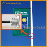 Lamp Pillar Outdoor Advertising Media Image Flex Poster Banner Holder