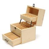 Essential Oil Storage Box Wooden Case Wood Container Organizer Box
