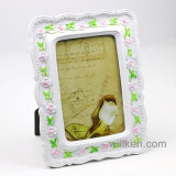 Pink Rose Resin Photo Frame European Worn-out Style Polyresin Picture Frame
