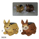 Resin Craft Rabbit Catch Solar Light
