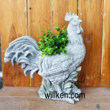 Wonderful Lovely Cock Granite Stone Garden Flower Pot