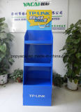 Retail Corrugated Cardboard Floor Pallet Display with Metal Bar for Tplink
