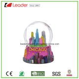 Hand-Painted Resin Craft Snow Globe with Building for Home Decoration and Souvenir