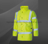 High Visibility Traffic Roadyway Rain Men Waterproof Reflective Safety Jacket